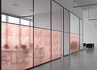 Матовая плёнка на стекло (окна, перегородки) от соседей и посторонних глаз, разделитель пространства