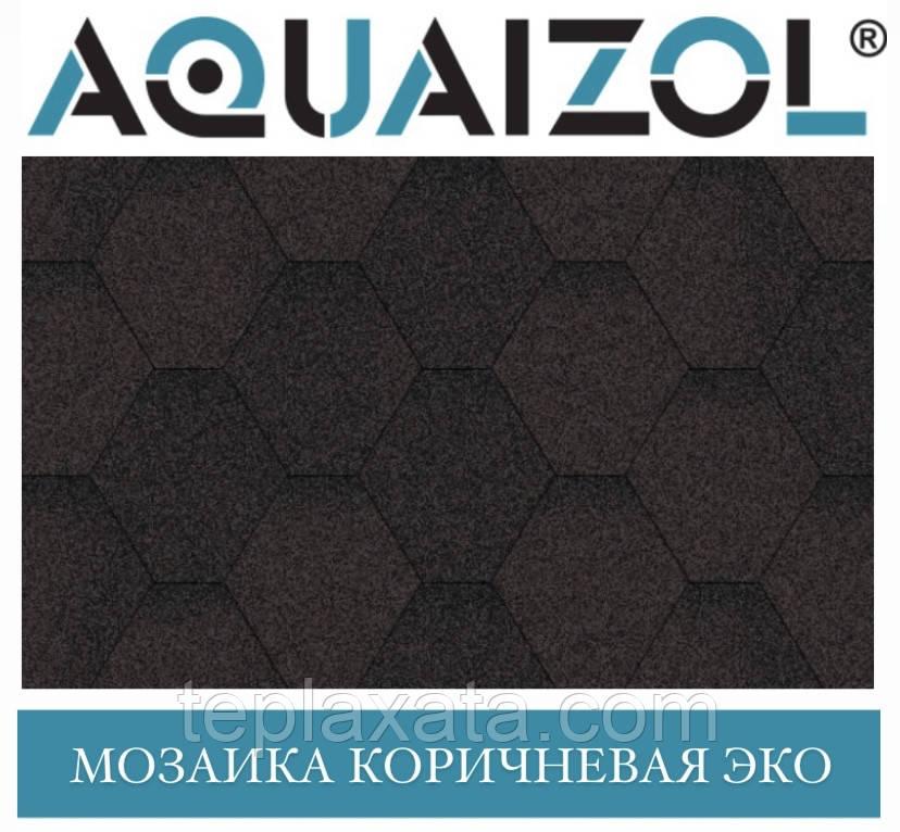 ОПТ - Акваізол СТАНДАРТ Мозаїка ЕКО коричневий Бітумна черепиця (3 м2/уп) - Харків