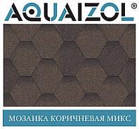 ОПТ - Акваізол СТАНДАРТ Мозаїка коричневий мікс Бітумна черепиця (3 м2/уп) - Харків