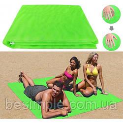 Покрывало пляжное анти песок Sand Leakage Beach Mat, Покрывало для пляжа Зеленый