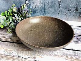 Миска для вареников V 1,4 л с гранитным покрытием серого цвета