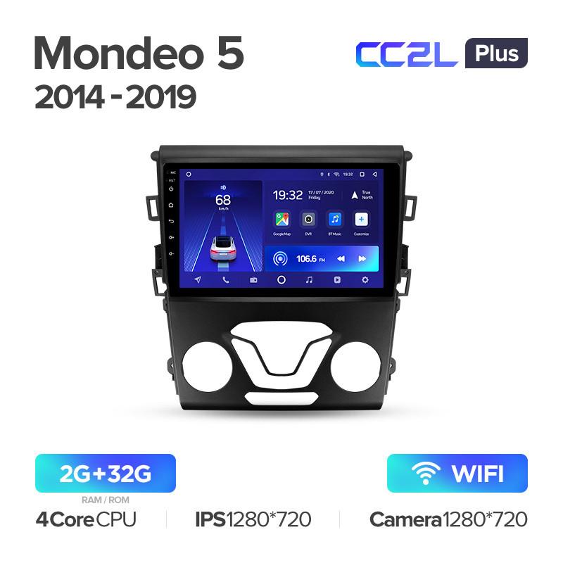 Штатная магнитола Teyes Ford Mondeo 5 Fusion  2014-2019 Android