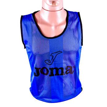 Манишка футбольная JOMA синяя RXJM-RL, M, фото 2