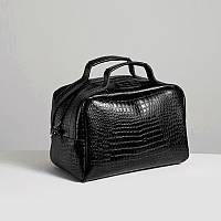 Кожаная сумка модель 6 черный кайман_склад