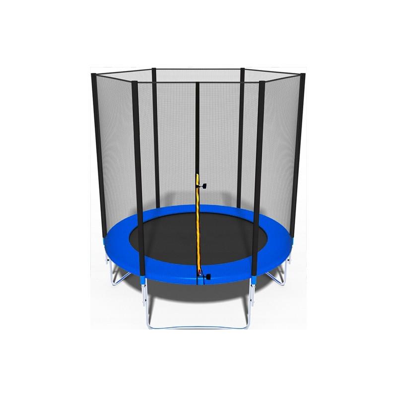 Батут Just Fun BLUE 183 (6 FT) з зовнішньої сіткою без сходів (Спортивний батут)