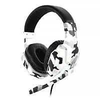 Проводная гарнитура-наушники с микрофоном SOYTO SY830MV Camouflage Grey гарнитура bluetooth блутуз