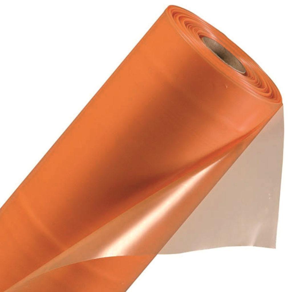 Плёнка 100 мкм, УФ-стабил. 24 мес. (оранжевая), 6х50м