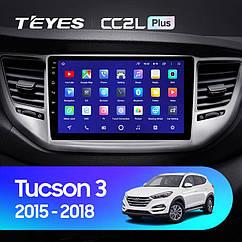 Штатная магнитола TEYES  Hyundai Tucson 3 2015 - 2018 Android 10 GPS