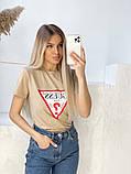 Жіноча футболка Guess різні кольори, фото 3