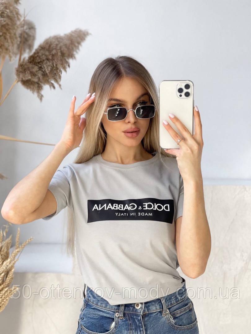 Женская футболка DOLCE GABBANA разные цвета