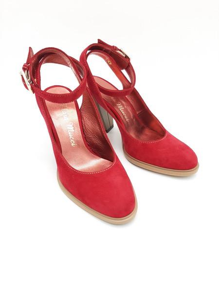 Босоножки женские кожаные красные Италия Mara Mucci  MM 1403708921321