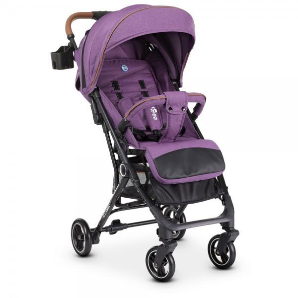 Детская прогулочная коляска El Camino ME 1039L IDEA Violet, лен, фиолетовый