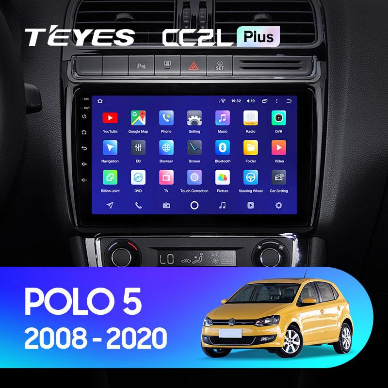 Штатная магнитола Teyes VW Polo 5 2008-2020г Android