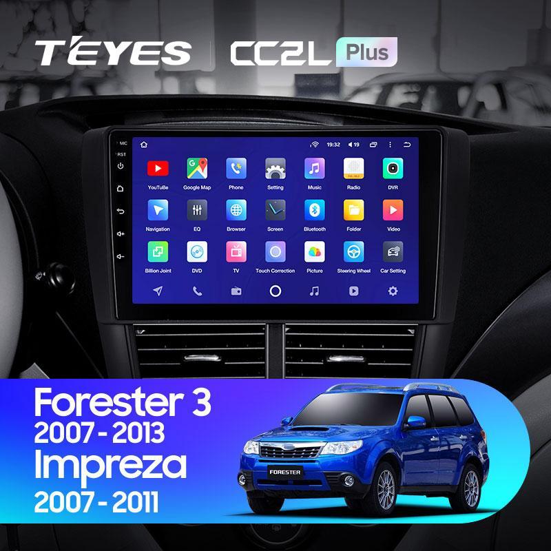 Штатная магнитола Teyes Subaru Forester 3 2007-2013 Android 10