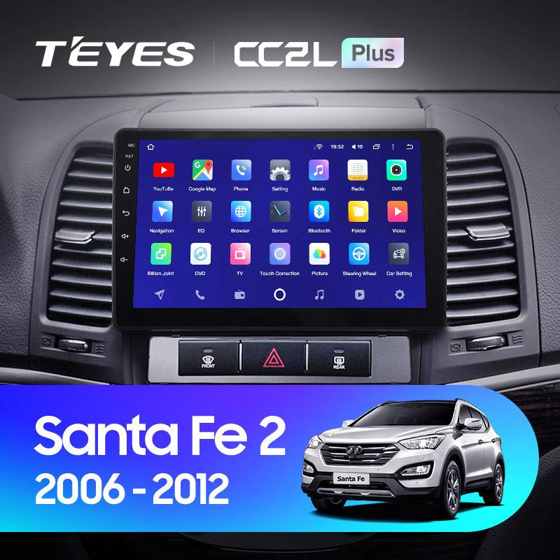Штатная магнитола Teyes  Hyndai Santa FE 2006-2012 Android
