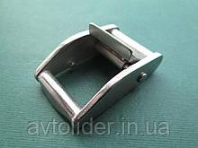 Нержавеющая пряжка с фиксатором, для строп 25 мм.