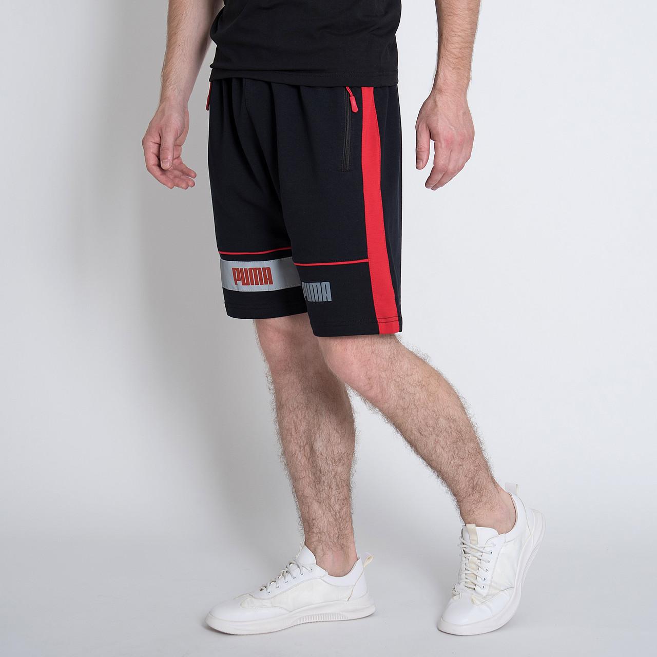 Чоловічі трикотажні шорти PUMA,чорного кольору.