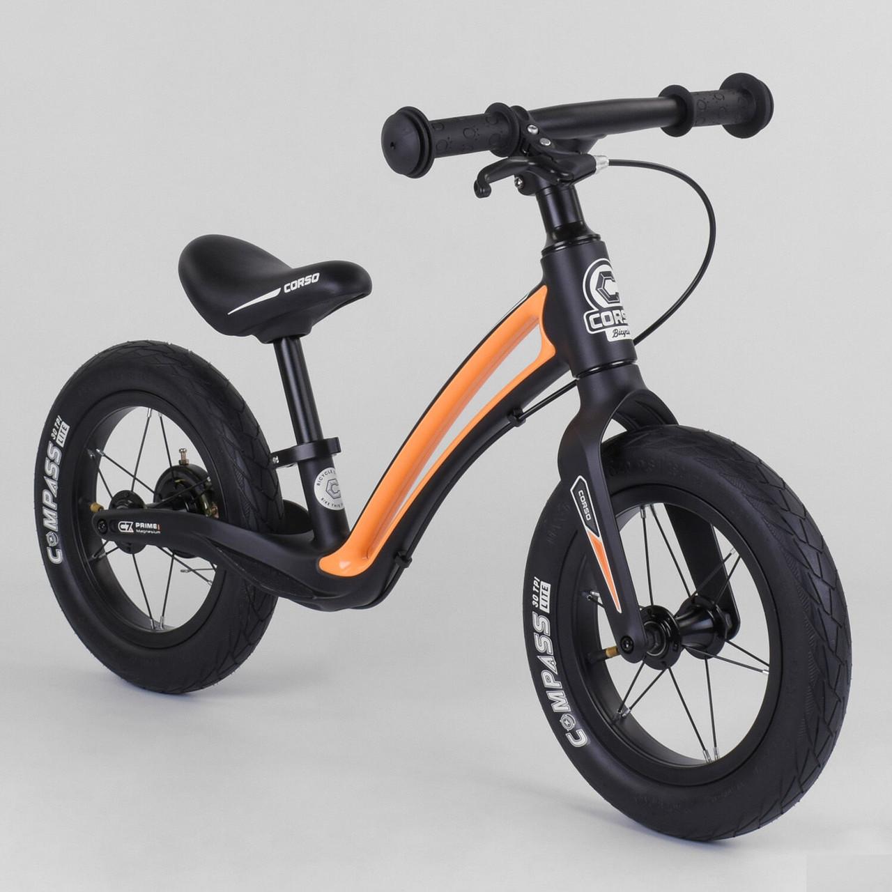 """Велобег Corso """"Prime C7"""" 84209 , колесо 12"""", магниевая рама, задний ручной тормоз"""