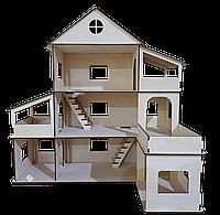 Ляльковий будиночок. Ляльковий будиночок з драбиною. 3 поверхи.