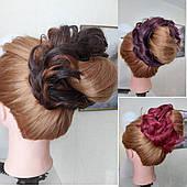 Резинка шиньон с волос локоны цвета в ассортименте