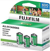 Цветная фотопленка FUJIFILM SUPERIA 400 X-TRA 400/36 135 35мм негативная FUJI 36 кадров - 3 штуки в упаковке