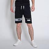 Чоловічі трикотажні шорти PUMA,чорного кольору., фото 3