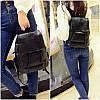 Женский рюкзак, черный рюкзак из эко-кожи 2021 AL-6899-10 - Фото