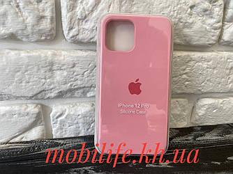 Чохол Silicon Case iPhone 12,12 Pro/Ніжно Рожевий/