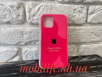 Чохол Silicon Case iPhone 12,12 Pro/Яскраво Рожевий/