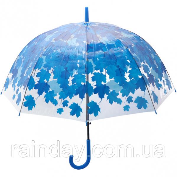 Прозорий парасолю з кленовим листям