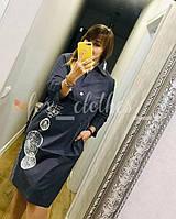 Платье- рубашкаженская коттоновая с рисунком размеры 48-52,цвет уточняйте при заказе