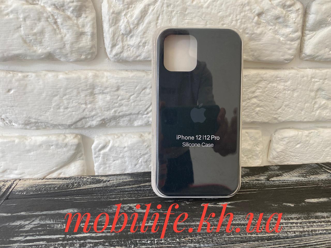 Чехол Silicon Case iPhone 12,12 Pro/Черный/