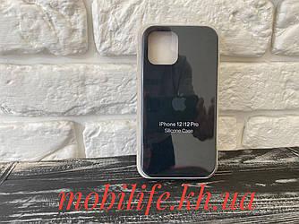 Чохол Silicon Case iPhone 12,12 Pro/Чорний/