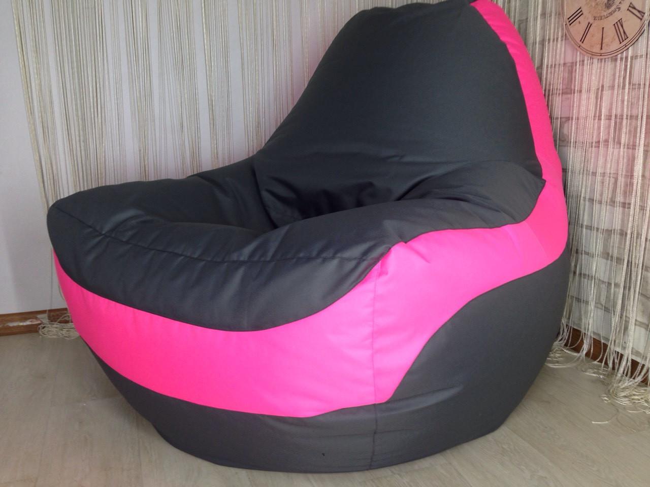 Крісло мішок, крісло-груша, крісло подушка, безкаркасне крісло Болід - великий розмір !Комфортний всім ! Тканина