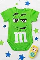 Боди ясельный зелёный M&M's