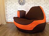 Крісло мішок, крісло-груша, крісло подушка, безкаркасне крісло Болід - великий розмір !Комфортний всім ! Тканина, фото 5