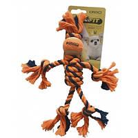 Croci C6098742 Веревочный человечек игрушка для собак мелких и средних пород 25см