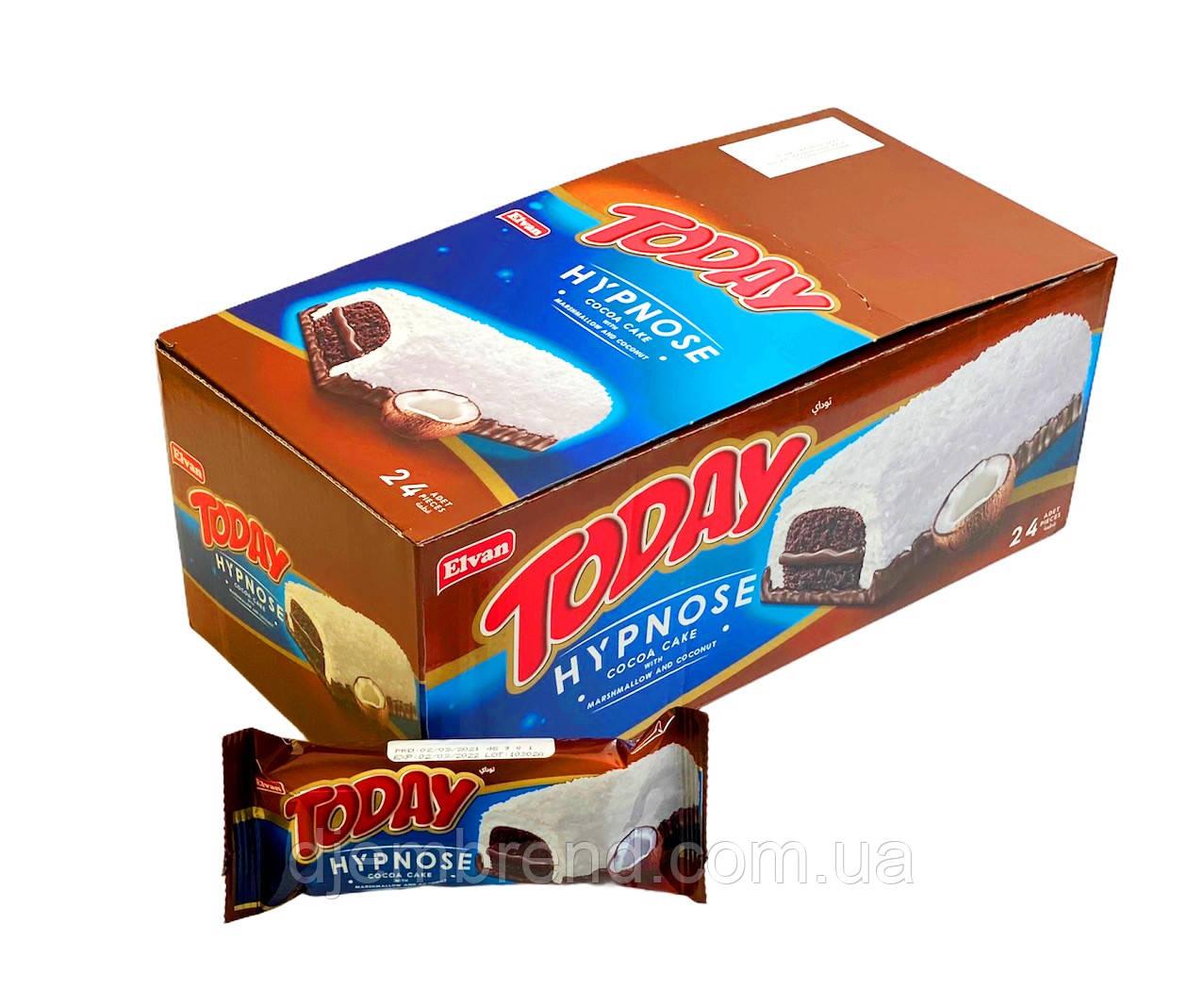 Бисквитное пирожное Today Hypnose Cocoa Cake, 24 шт в коробке. Вес 45 г