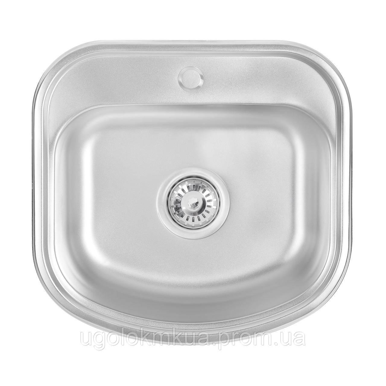 Кухонна мийка Lidz 4749 Satin 0,8 мм (LIDZ4749SAT)