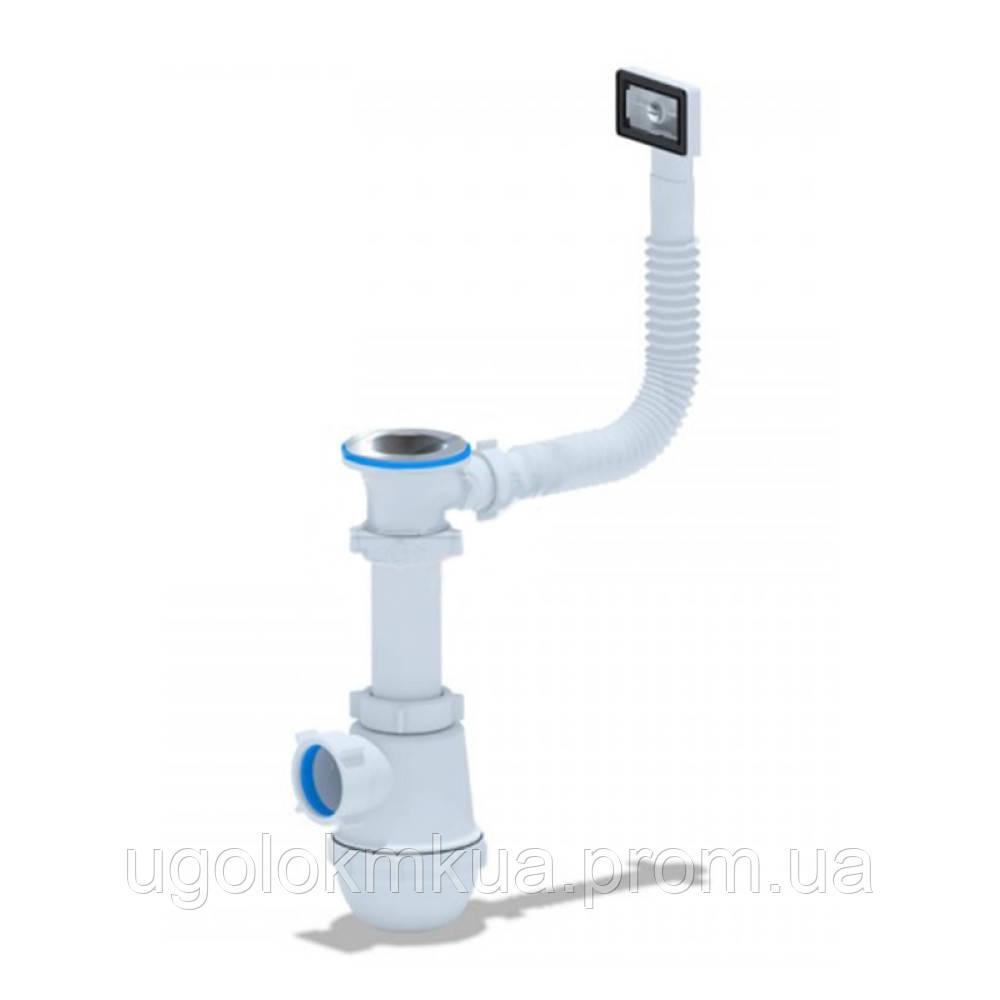 Сифон для кухонної мийки ANI Plast A0140S з переливом