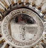 Посеребренный винный бокал, серебрение, мельхиор, Англия, Falstaff SILVER PLATE, фото 8