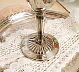 Посеребренный винный бокал, серебрение, мельхиор, Англия, Falstaff SILVER PLATE, фото 6