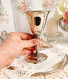 Посеребренный винный бокал, серебрение, мельхиор, Англия, Falstaff SILVER PLATE, фото 5