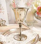 Посеребренный винный бокал, серебрение, мельхиор, Англия, Falstaff SILVER PLATE, фото 3