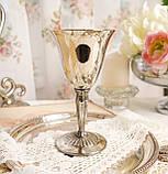 Посеребренный винный бокал, серебрение, мельхиор, Англия, Falstaff SILVER PLATE, фото 2