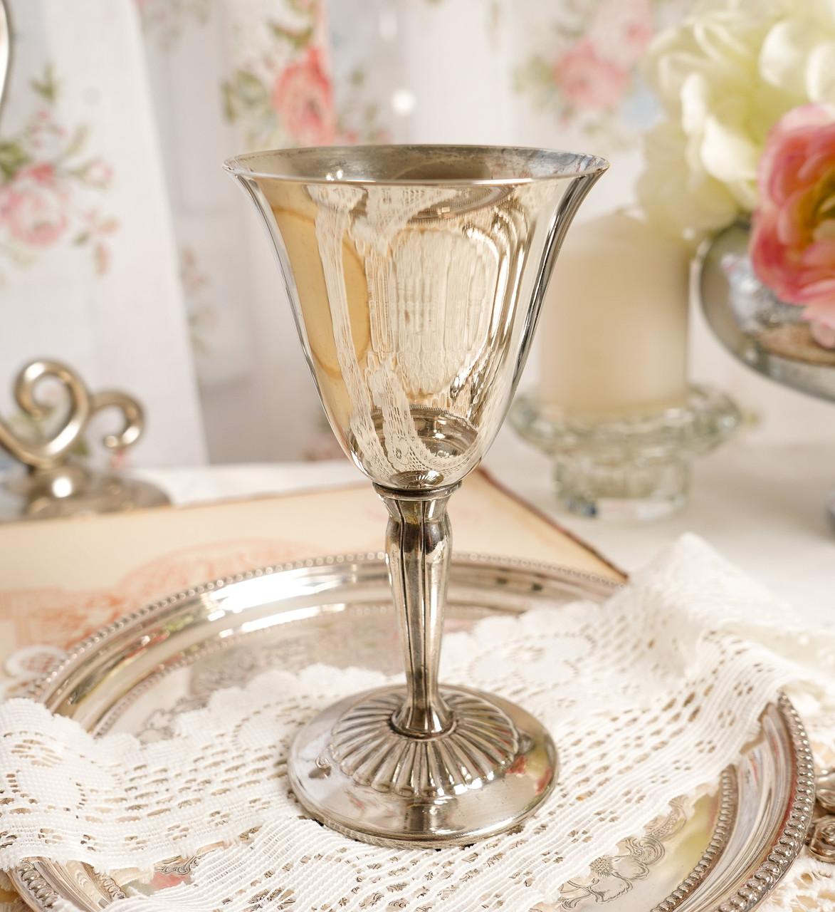 Посеребренный винный бокал, серебрение, мельхиор, Англия, Falstaff SILVER PLATE