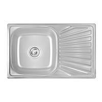 Кухонна мийка Lidz 7848 Satin 0,8 мм (LIDZ7848SAT), фото 1