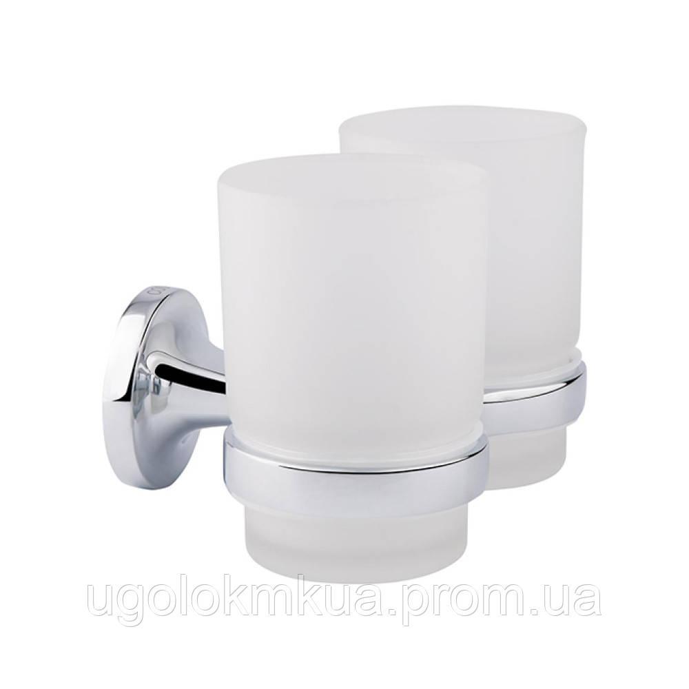 Склянка подвійна GF (CRM)S-2808 з тримачем зубних щіток