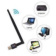 Универсальный сетевой Wi-Fi адаптер USB антенна для Т2 тюнеров, компьютера, ТВ, вай фай адаптер wi fi приемник