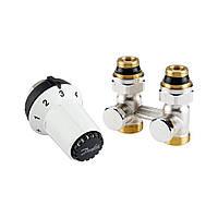 Комплект для підмикання сталевих радіаторів Danfoss RAS-CK+RLV-KS, нижнє підмикання (013G5275)